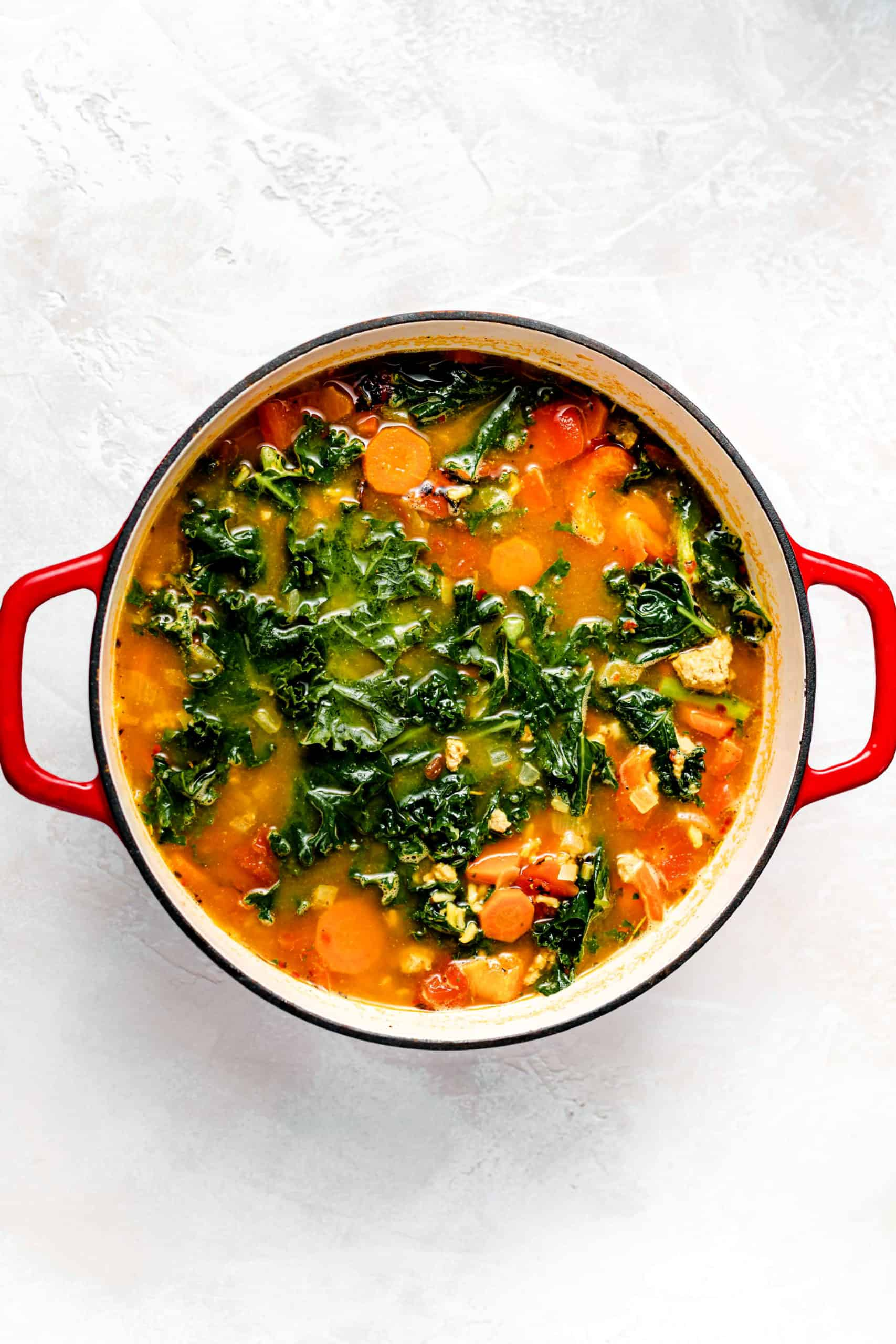turkey kale and brown rice soup