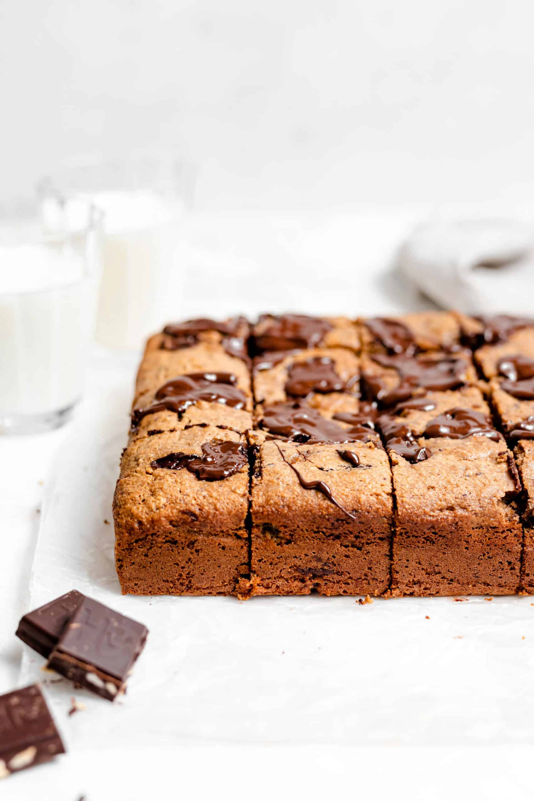 gluten free chocolate chip banana bread bars