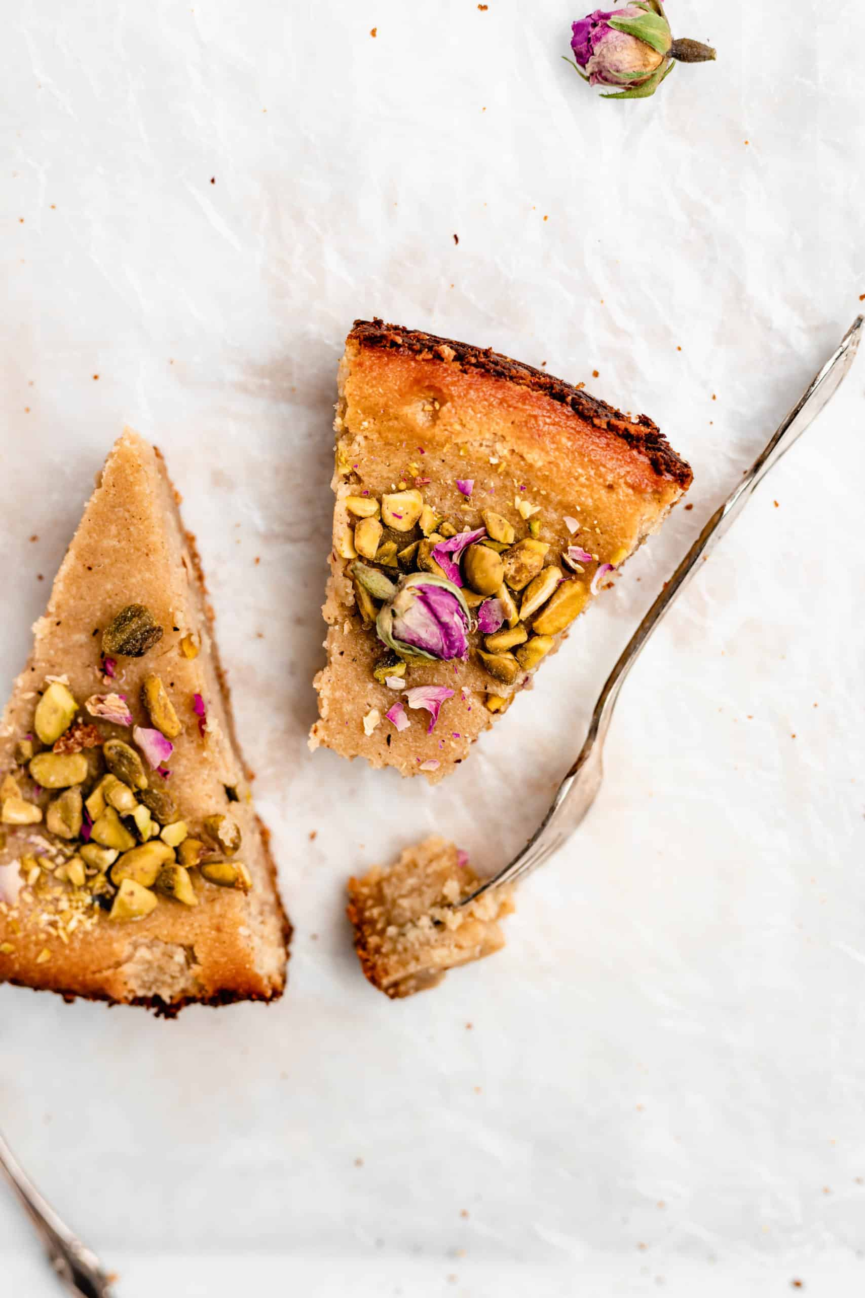slices of gluten free persian love cake