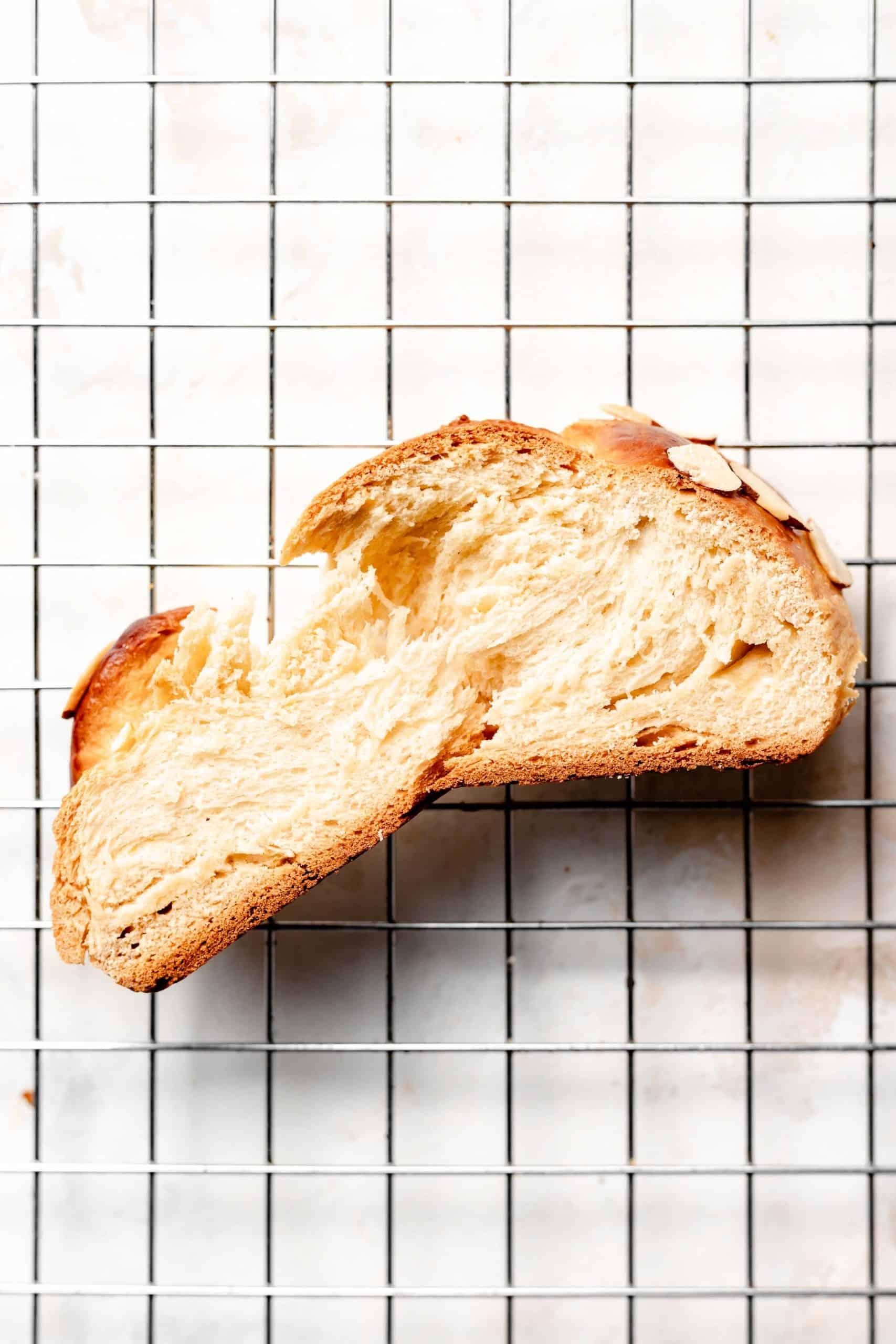 slice of tsoureki