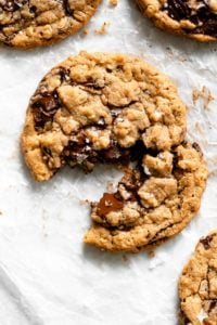 chewy peanut butter oatmeal chocolate chip cookie