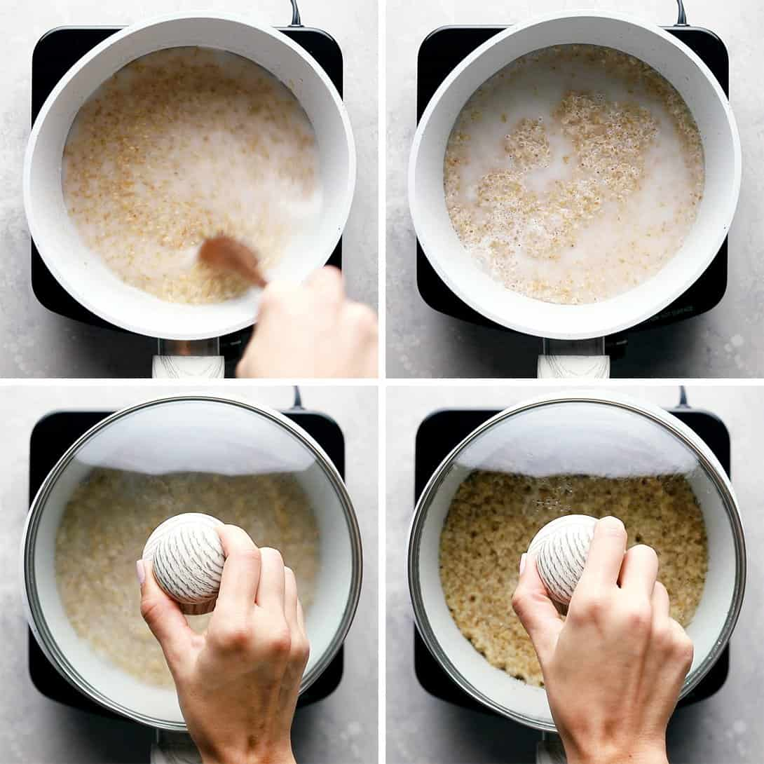 pictures showing step by step process of how to cook bulgur