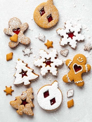gingerbread cookies on a light background