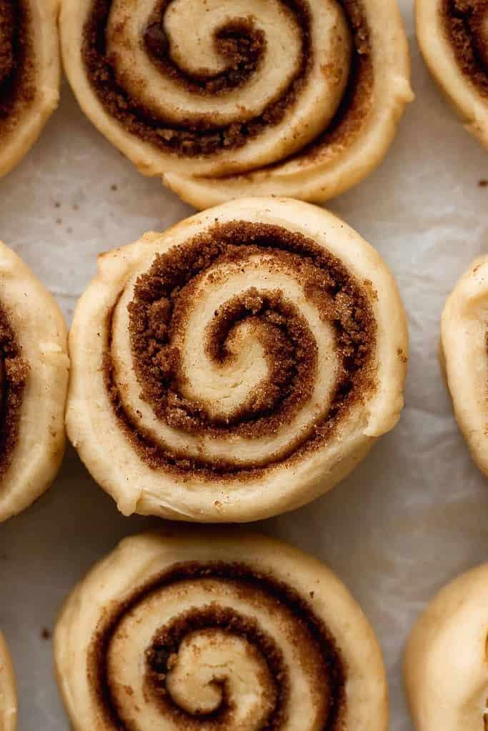 unbaked cinnamon roll