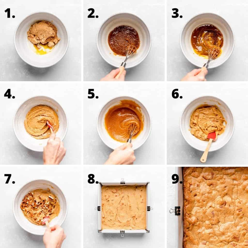 how to make blondies step by step