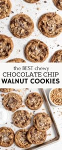 chocolate chip walnut cookies pin for pinterest.