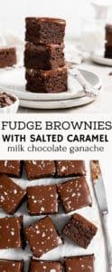 fudge brownies recipe pinterest pin.