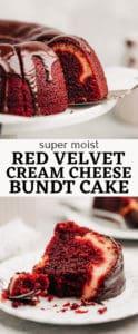 Red Velvet Cream Cheese Bundt Cake pinterest pin