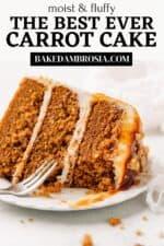 Carrot Cake Recipe Pinterest pin.