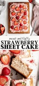 Fresh strawberry sheet cake recipe.