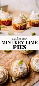Mini key lime pie recipe pin.